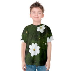 Daisies In Green Kids  Cotton Tee