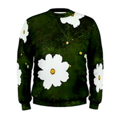 Daisies In Green Men s Sweatshirt