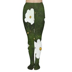 Daisies In Green Women s Tights