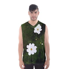 Daisies In Green Men s Basketball Tank Top