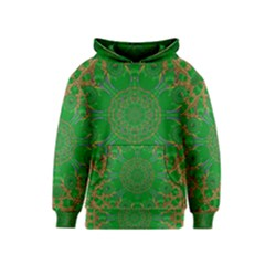 Summer Landscape In Green And Gold Kids  Pullover Hoodie