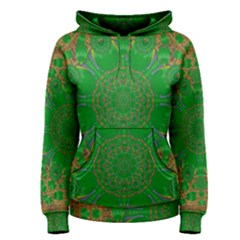 Summer Landscape In Green And Gold Women s Pullover Hoodie