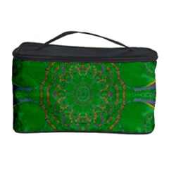 Summer Landscape In Green And Gold Cosmetic Storage Case
