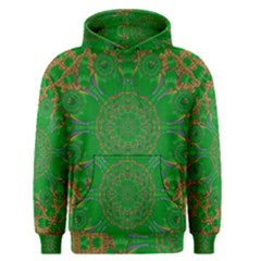Summer Landscape In Green And Gold Men s Pullover Hoodie