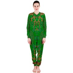 Summer Landscape In Green And Gold OnePiece Jumpsuit (Ladies)