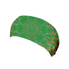 Summer Landscape In Green And Gold Yoga Headband
