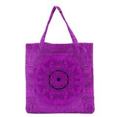 Purple Mandala Fashion Grocery Tote Bag