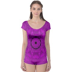 Purple Mandala Fashion Boyleg Leotard