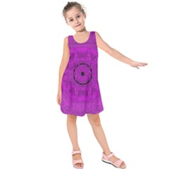 Purple Mandala Fashion Kids  Sleeveless Dress