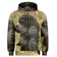 Poodle Black Men s Zipper Hoodie