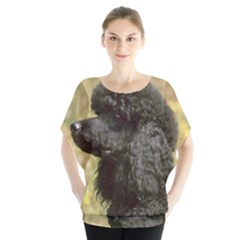 Poodle Black Blouse