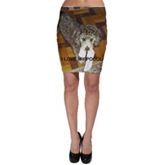 Poodle Love W Pic Silver Bodycon Skirt