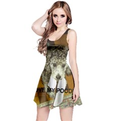 Poodle Love W Pic Silver Reversible Sleeveless Dress