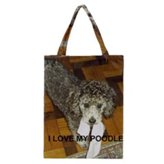 Poodle Love W Pic Silver Classic Tote Bag
