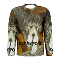 Poodle Love W Pic Silver Men s Long Sleeve Tee