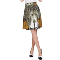 Poodle Love W Pic Silver A-Line Skirt