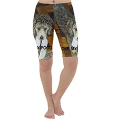 Poodle Love W Pic Silver Cropped Leggings