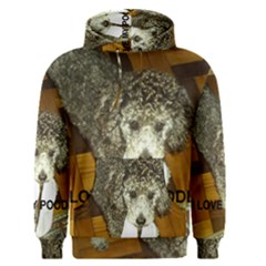 Poodle Love W Pic Silver Men s Pullover Hoodie