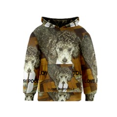 Poodle Love W Pic Silver Kids  Pullover Hoodie