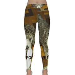 Poodle Love W Pic Silver Classic Yoga Leggings