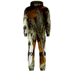 Poodle Love W Pic Silver Hooded Jumpsuit (Men)