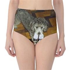 Poodle Love W Pic Silver High-Waist Bikini Bottoms
