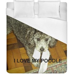 Poodle Love W Pic Silver Duvet Cover (California King Size)