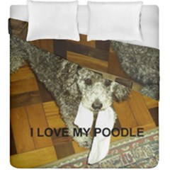 Poodle Love W Pic Silver Duvet Cover Double Side (King Size)