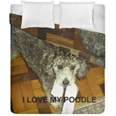 Poodle Love W Pic Silver Duvet Cover Double Side (California King Size)