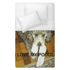 Poodle Love W Pic Silver Duvet Cover (Single Size)