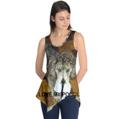 Poodle Love W Pic Silver Sleeveless Tunic