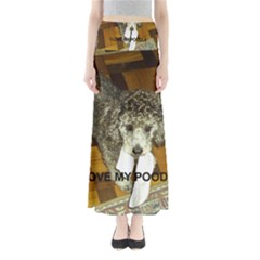 Poodle Love W Pic Silver Maxi Skirts