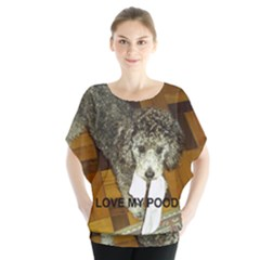 Poodle Love W Pic Silver Blouse