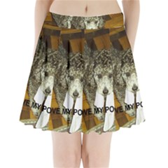 Poodle Love W Pic Silver Pleated Mini Skirt