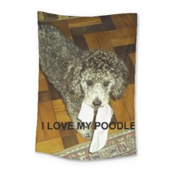 Poodle Love W Pic Silver Small Tapestry