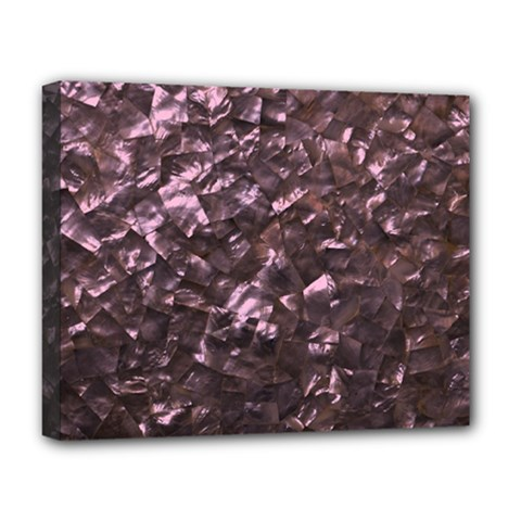 Pink Rainbow Shimmering Mother of Pearl Deluxe Canvas 20  x 16