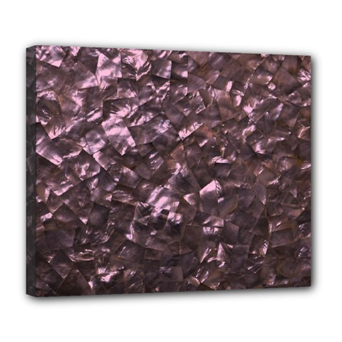 Pink Rainbow Shimmering Mother of Pearl Deluxe Canvas 24  x 20