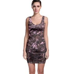 Pink Rainbow Shimmering Mother Of Pearl Sleeveless Bodycon Dress