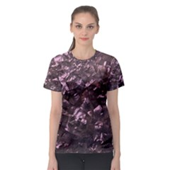 Pink Rainbow Shimmering Mother of Pearl Women s Sport Mesh Tee