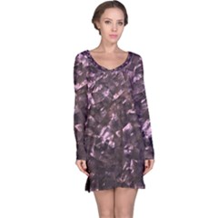Pink Rainbow Shimmering Mother of Pearl Long Sleeve Nightdress