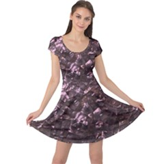 Pink Rainbow Shimmering Mother of Pearl Cap Sleeve Dresses
