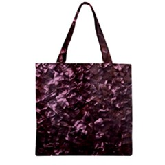 Pink Rainbow Shimmering Mother of Pearl Zipper Grocery Tote Bag