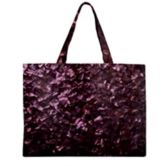 Pink Rainbow Shimmering Mother of Pearl Zipper Mini Tote Bag