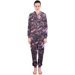 Pink Rainbow Shimmering Mother of Pearl Hooded Jumpsuit (Ladies)