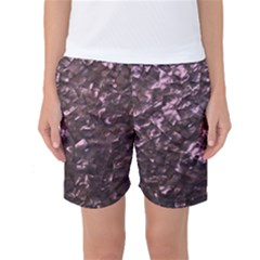 Pink Rainbow Shimmering Mother of Pearl Women s Basketball Shorts