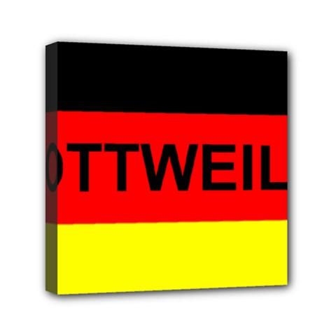 Rottweiler Name On Flag Mini Canvas 6  x 6