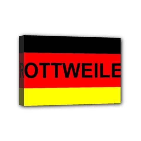Rottweiler Name On Flag Mini Canvas 6  x 4