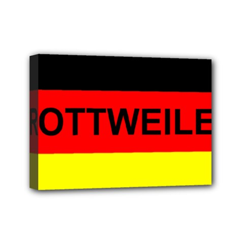 Rottweiler Name On Flag Mini Canvas 7  x 5