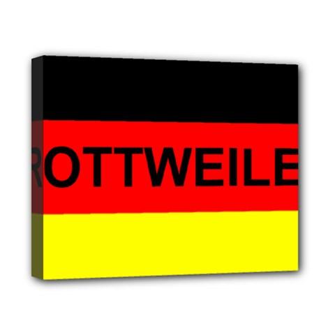 Rottweiler Name On Flag Canvas 10  x 8