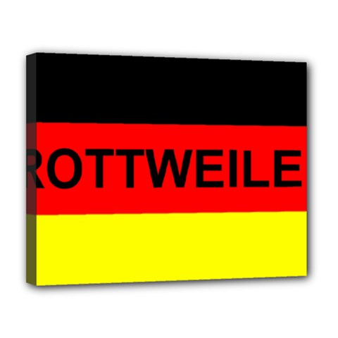 Rottweiler Name On Flag Canvas 14  x 11